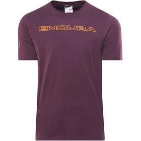 Endura One Clan Carbon T-Shirt Men, mulberry